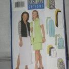 Butterick Sewing Pattern 5485 Womens size 12-14-16 Vest Skirt Pants