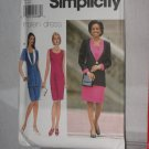 Simplicity Sewing Dress Pattern 7526  size R 14, 16, 18  no. 178