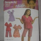 Simplicity Sewing That's So Raven Dress Top Shorts Pattern 3904  size BB 8 1/2--16  1/2  no. 178