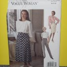 Vogue 8604 Sewing Pattern The Vogue Woman 8-10-12 Skirt Pants No. 178