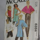 McCalls Sewing Pattern 6384 Size Small Misses Set of Tops and Pants No. 178