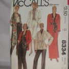 McCalls Sewing Pattern 8334 Size 12 Misses Kimono Skirt Pants Sash No. 178