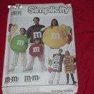 M & M's Simplicity Pattern 8290  Adults Children's M & M's costumes  No. 76