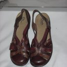 Clark's Bendables Back Strap Sandal 9 1/2 M Browns Womens Shoes   No. 183