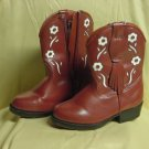 Western Boot Young Child's Red Cowboy boots Faded Glory Size 6 No. 185