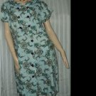 1960s Vintage House Dress Double Breast Button Front No. 183