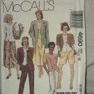 Jacket Top Pants Skirt Shorts Misses McCalls 4690 sewing pattern  No. 184