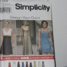 Simplicity 7510 Design Your Own Dress size 10, 12, 13 No. 184