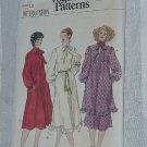 Vogue 9931 Full Sleeve Bow neckline dress Skirt Size 12  No. 185
