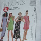 McCalls Sewing Pattern 1 Hour Dress Cut to Fit Size A 6,8,10  No.185