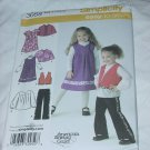 3668 Childs capelet vest Dress Jumper Tunic size A 3,4,5,6,7,8 Simplicity Sewing Pattern No. 185