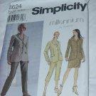 8624 Jacket Skirt Pants Simplicity Millennium Sewing Pattern Size U  16,18,20  No. 185