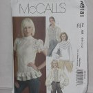 M5181 McCall's  Shirts Blouses Size AA 6,8,10,12  No.185