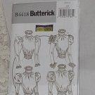 Misses Butterick Pattern Historical Blouse B4418 Lamb Chop Sleeves Size AA Uncut No. 185