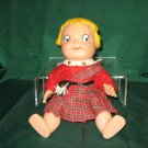 "Vintage 1960s 10"" Campbell Soup Doll Scottish Kilt Dress  No. 186"