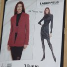 Lagerfeld Vogue Pattern Uncut 1617 Size 6-8-10 Jacket Dress  No. 60