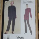 Calvin Klein Vogue Pattern Uncut 1987 Size 8-10-12 Jacket Pantsi No. 60