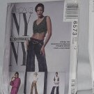 McCalls NY Collection 6573 Tunic Top Lined Vest Pants  No. 187