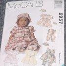 6957 McCalls Infants Dress Pantaloons Hat Shoes