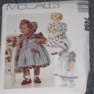 7498 McCall's Infants Dress Sundress pinafore pantaloons panties bonnet