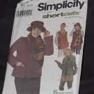 Simplicity 9820 Ann Regal's Shortcuts to sewing Fleece Jacket Vest Scarf Hat Headband  No. 190