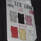 New Look Simplicity Pattern 6031 Tops six Top variations Size A 10-22