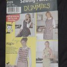 Simplicity 5525 Sewing Patterns for Dummies Aprons Size A, S,M,L  No. 190