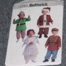 3589 Butterick Toddlers Costumes Santa Elf Angel Toy Soldier