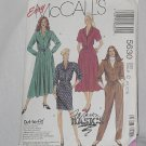 5630 McCalls Misses' Shirt Waist Dress Jumpsuit sewing Pattern Size 10-12-14 Uncut No. 192