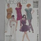 5711 McCalls Misses' Flirty Camisole Top Skirt Pants sewing Pattern Size  10-12-14 Uncut No. 192