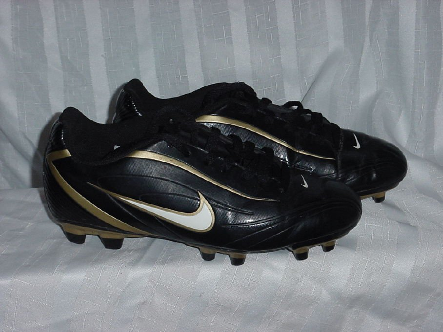 Gold Black Nike cleats Womens Size 7 Athletic Shoes  No. 314