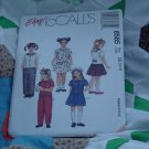 McCalls 8585 Size CE 3,4, 5 Childrens and Girls Top Pull on Pants Skirt No. 201