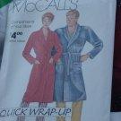 McCalls Quick Wrap-UP Misses Mens Robe No. 201