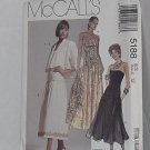 McCalls 5188 strapless gown bolero jacket Size 12 No. 201
