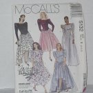 McCalls 5132 Misses Gown Dress Flowers Size B 8, 10, 12 No. 201