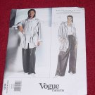 Donna Karan 1438 Vogue American Designer Misses Jacket Pants 6-8-10  No. 206