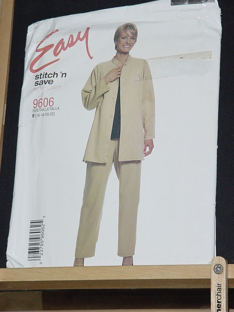 Stitch N Sew by McCalls Sewing Pattern 9606 Misses Jacket Tunic Pants 16-22  No. 206