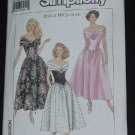 Simplicity 9558 Jessica McClintock off the shoulder Dress Full Skirt size KK 8-14  No. 206