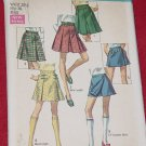 Simplicity 8397 Skirts Scooter Skirt mini skirt Waist 25 1/2 Hip 36 Vintage Pattern No. 206