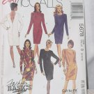 McCalls 5678 Misses Dresses Stretchable Fabric Size B  8,10,12  No. 206