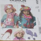 5254 McCall's Fashion Accessories One Size Fits All children's Girl's Hats Mittens Scarves  No. 208