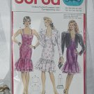 5445 Burda Dress flounce Jacket size 10-18  No. 208