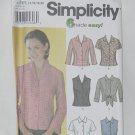 Simplicity 7086 Misses Shirts 6 made easy Size RR 14-20 Unused No. 208