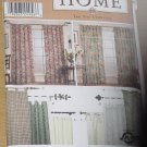 9681 Simplicity Home Uncut Tab Curtains 8 Styles No. 208