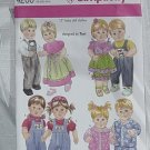 """Simplicity 4268 15"""" Baby Doll Clothes One Size  No. 211"""