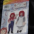 Simplicity 2784 Raggedy Ann Raggedy Andy Halloween Costume Toddlers Theater  No. 216