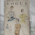 Vogue 8609 Blouse Pattern Size 16 Bust 34 Mid Century 1955 pattern No. 216