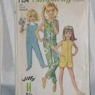 Child's Jiffy Jumpsuit Simplicity 7154 Girls size 8 chest 26  No. 220