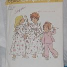Toddler size 3 robe nightgown pajamas Vintage Simplicity Pattern 6685 No. 220