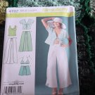 Wrap pants Shorts Kimono Top bra top Simplicity 4192 Size RS 14, 16, 18, 20, 22   No. 193